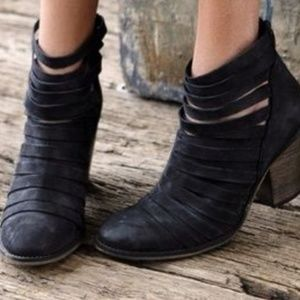 Free people black strappy hybrid booties 8/38